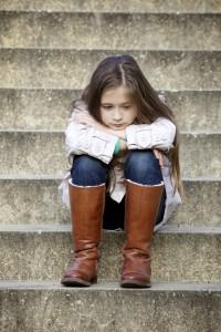 Little pensive girl